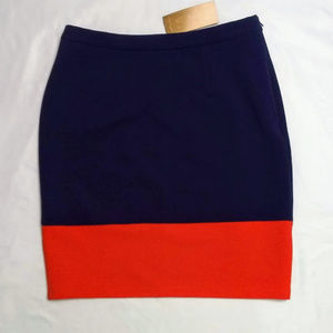 Paraella Color Block Pencil Skirt Purple Red M NWT